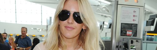 Ellie Goulding Sheer Shirt Airport