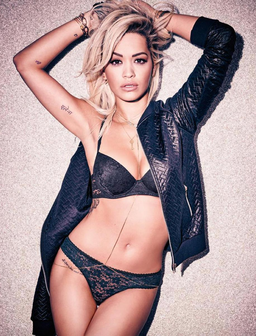 Rita Ora in her underwear