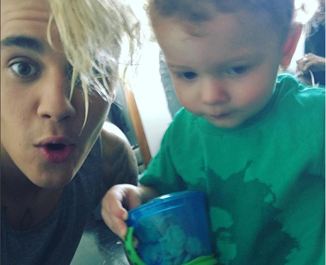 Justin Bieber and his brother