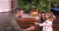 Adam Levine meets Mila
