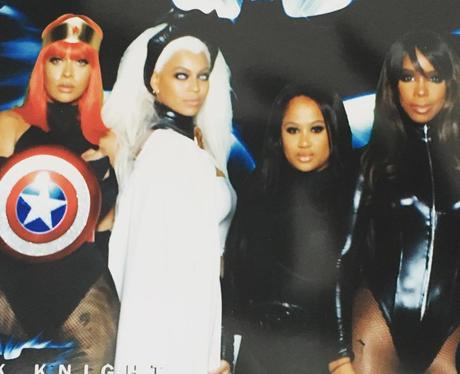 Beyonce and Kelly Rowland at Ciara's 30th Birthday