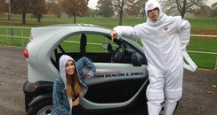 Tom Deacon and Emma Drive A Twizzy