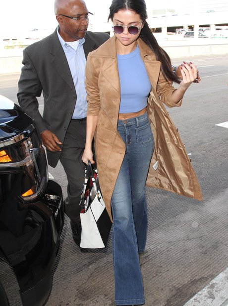 Selena Gomez wearing flares in LA