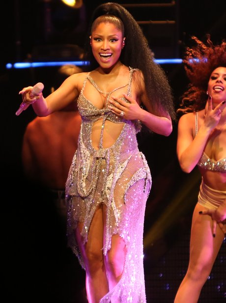 WATCH: Nicki Minaj Suffers Wardrobe Malfunction Onstage