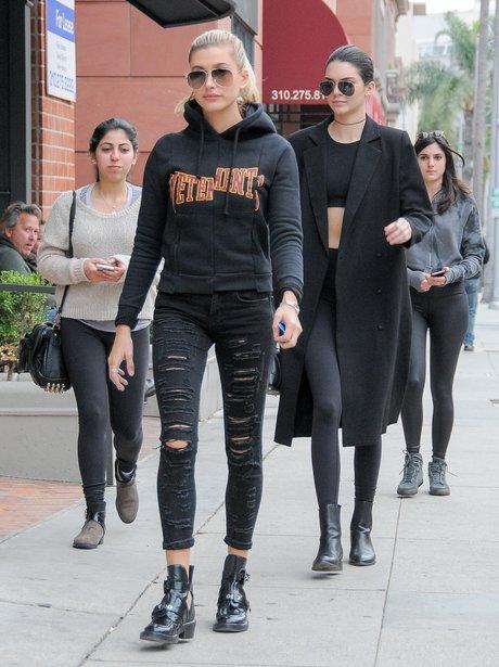 Kendall Jenner and Hailey Baldwin California