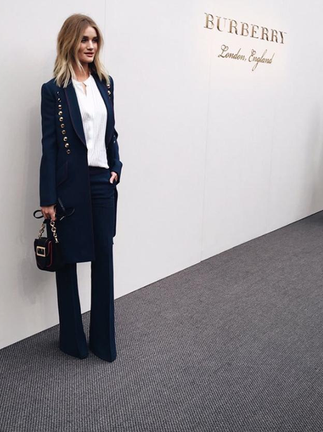 Rosie Huntington Whiteley stuns in tailored suit a