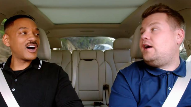 Ariana Grande, Will Smith & John Cena All Bust Rhymes In The Trailer For 'Carpool Karaoke: The Series'