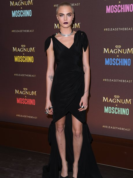 Cara Delevingne Magnum x Moschino party