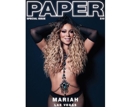 Mariah Carey on the cover of Paper