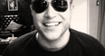 Olly Murs wearing glasses